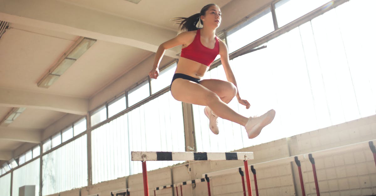 A woman jumping in the air